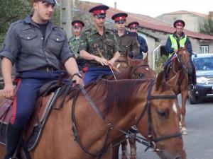 Arrivée des cavaliers Cosaques